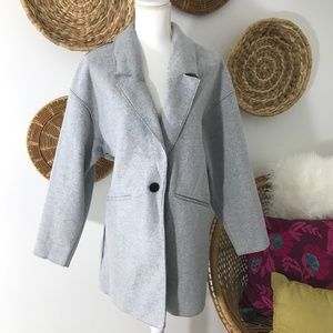 Zara • Gray Peacoat Jacket